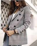 Пиджак женский серый в клетку 42-44, 46-48, фото 4