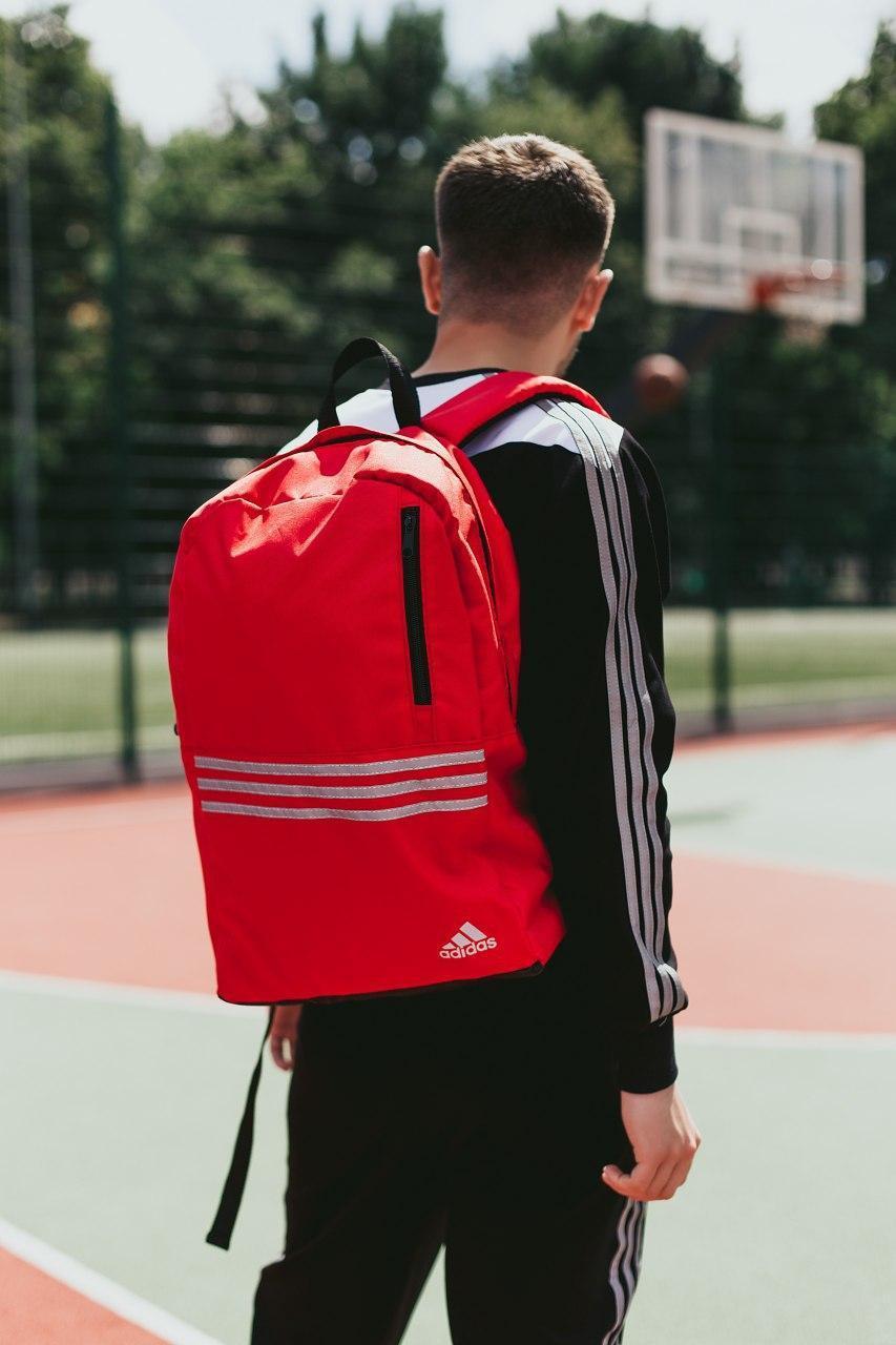 Рюкзак - Чоловічий спортивний рюкзак ADIDAS червоний (хороша якість)