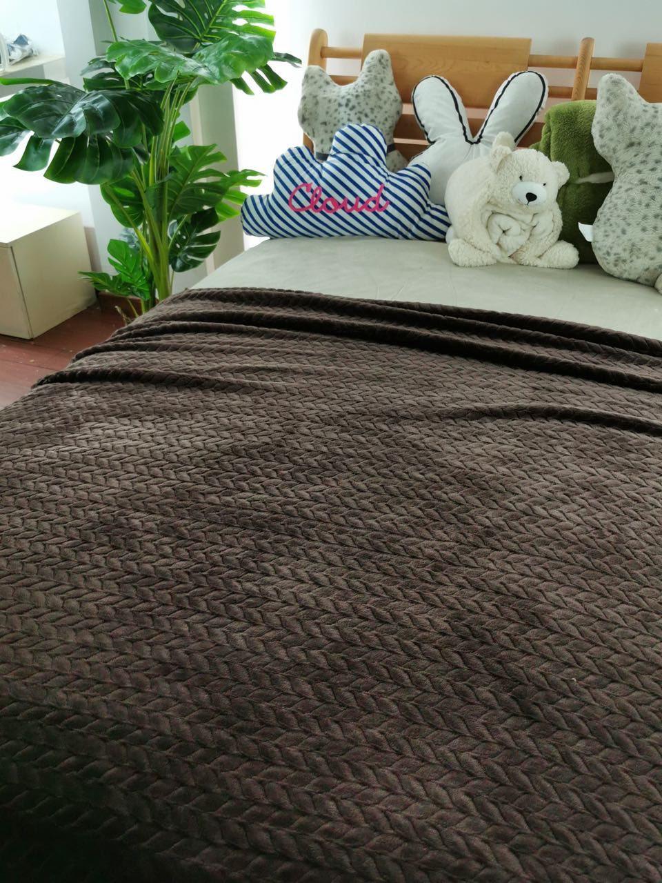 Плед микрофибра бамбук косичка 200х230