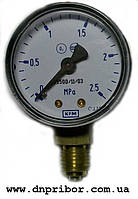 Манометр кислородный 0 - 2,5 МПа