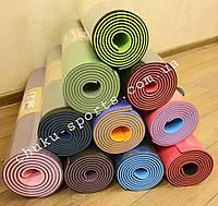 Профессиональный коврик для йоги TP+TC, 183 см × 61 см, толщина - 5.45 мм