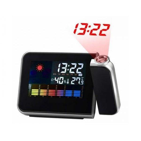 Настольные часы 8190, метеостанция + Проектор времени