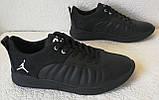 Jordan 23 чёрные мужские кроссовки осень весна кожа обувь кросовки спорт стиль, фото 2