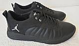Jordan 23 чёрные мужские кроссовки осень весна кожа обувь кросовки спорт стиль, фото 3