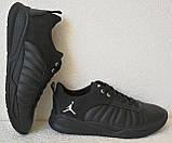 Jordan 23 чёрные мужские кроссовки осень весна кожа обувь кросовки спорт стиль, фото 4