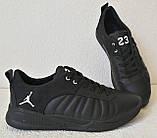 Jordan 23 чёрные мужские кроссовки осень весна кожа обувь кросовки спорт стиль, фото 7