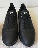 Jordan 23 чёрные мужские кроссовки осень весна кожа обувь кросовки спорт стиль, фото 8
