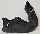 Jordan 23 чёрные мужские кроссовки осень весна кожа обувь кросовки спорт стиль, фото 9