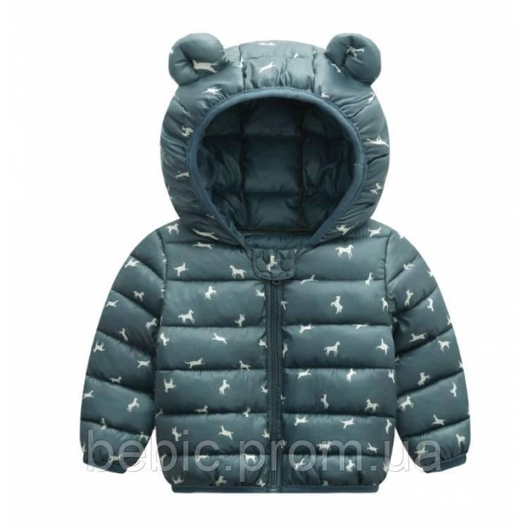 Демисезонная курточка мальчику серая Рост:120 см