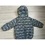 Демисезонная курточка мальчику серая Рост:120 см, фото 4