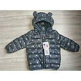 Демисезонная курточка мальчику серая Рост:120 см, фото 5
