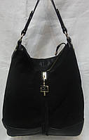 Женская сумка из натурального замша.