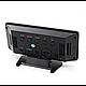 Зеркальные LED часы с будильником и термометром VST-888Y Чёрные зеленная подсветка, фото 2