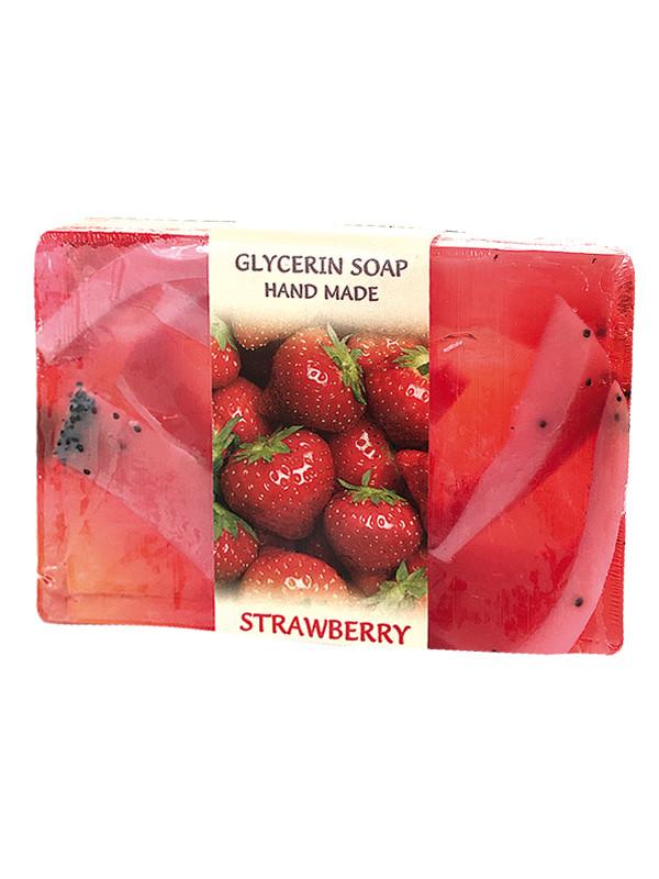 Глицериновое мыло ручной работы - Клубника, BioRose, 75 гр