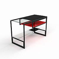 """Компьютерный стеклянный стол """"Мустанг"""", фото 1"""