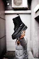 Женские ботинки Dr.Martens Jadon Black \ Др.Мартенс Черные Жадон \ Жіночі черевики Др.Мартенс Чорні Жадон