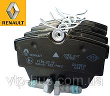 Тормозные колодки задние на Renault Trafic / Opel Vivaro (2001-2014) Renault (оригинал) 7701054772
