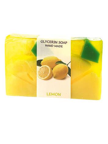 Гліцеринове мило ручної роботи - Лимон, BioRose, 75 гр, фото 2