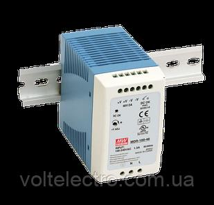 Блок питания Mean Well MDR-100-24 На DIN-рейку 96 Вт, 24 В, 4 А (AC/DC Преобразователь)