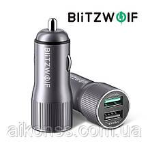 BlitzWolf® BW-SD2 30W QC3.0 автомобильное зарядное с двумя портами USB 12V-24V быстрая зарядка