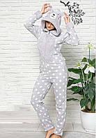 Женская слитная пижама комбинезон теплая и мягкая зима 2021 Турция, фото 1
