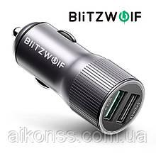BlitzWolf® BW-SD2 30W QC3.0 автомобильное зарядное в прикуриватель USB 12V-24V быстрая зарядка