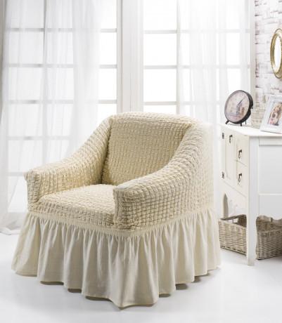 Чохол на крісло з спідницею Зелений Home Collection Evibu Туреччина 50094
