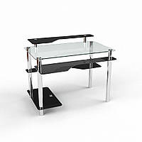 """Компьютерный стеклянный стол """"Хардвик"""", фото 1"""