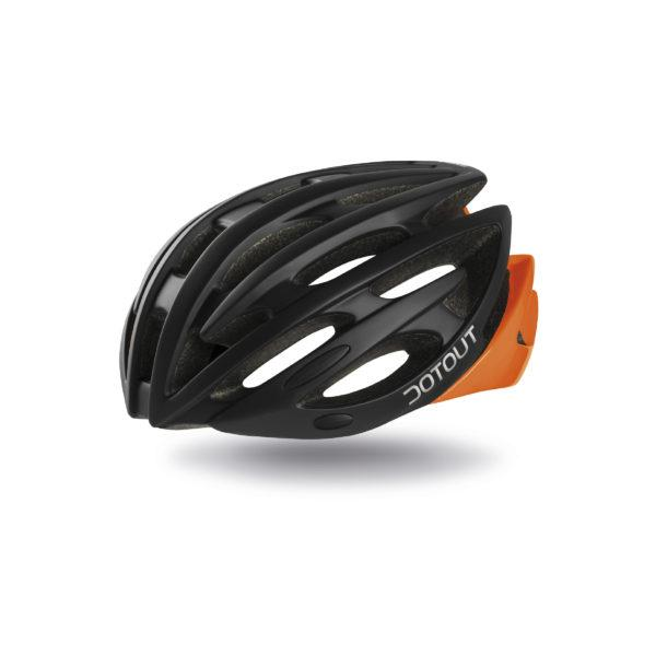 Велошолом DOTOUT Shoy matt black-orange fluo