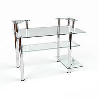 """Комп'ютерний скляний стіл """"Юнона"""", фото 1"""