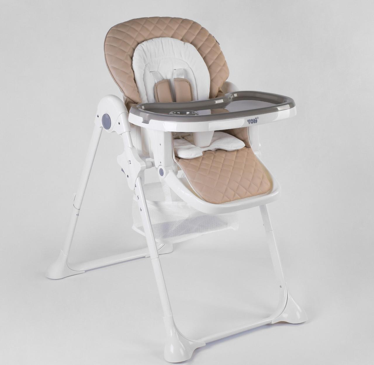 Стульчик для кормления малыша Toti W-65019 с мягким PU и 2 колесами