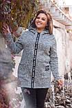 Женский кардиган теплый с капюшоном и на молнии молодежный, разные цвета р.44,46,48,50 Код 207Ч, фото 2