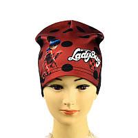 """Шапка трикотажна """"Lady Bug"""" для дівчинки"""