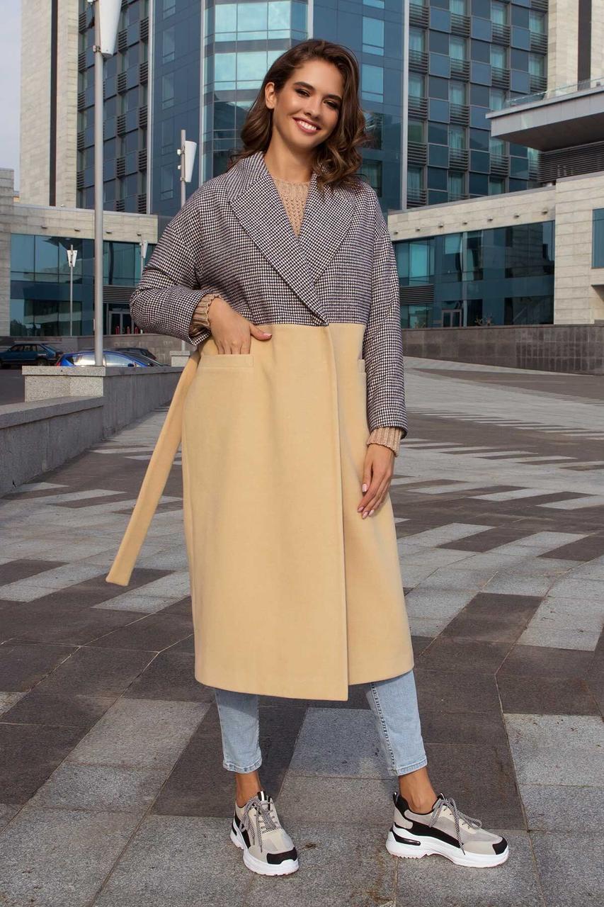 Женское пальто oversize кашемировое демисезонное, XS(42)