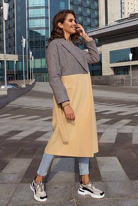 Женское пальто oversize кашемировое демисезонное, XS(42), фото 3