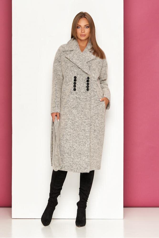 Женское осеннее пальто-оверсайз из валяной шерсти, XS(42)