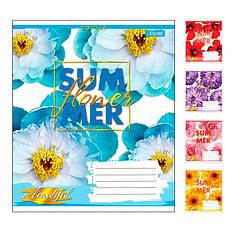 А5/60 в клетку 1В SUMMER FLOWER, тетрадь для записей