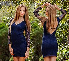 Нарядное платье со стразами