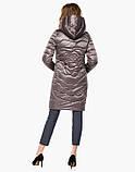 Воздуховик Braggart Angel's Fluff 18225 | Женская куртка весенне-осенняя темная пудра, фото 4