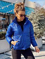Женская куртка с разрезами по бокам (синий, голубой, сирень, розовый, белый,, фото 1