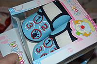 Пинетки нарядные для младенцев в подарочной упаковке