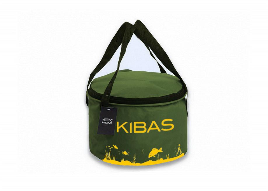 Ведро для прикормки с крышкой KIBAS D300C