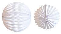 Бумажный подвесной фонарик-аккордеон, белый, 20 см
