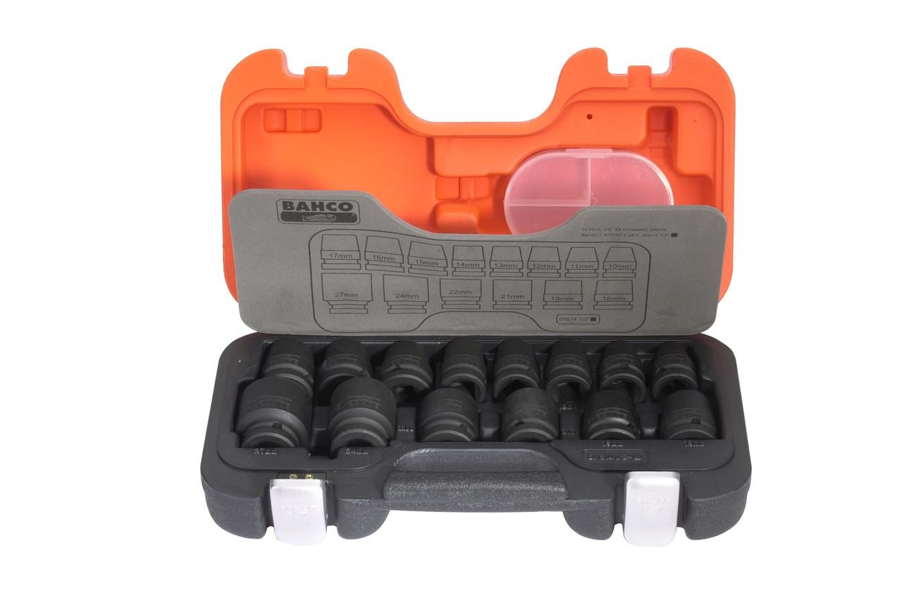 """Набор ударных головок 1/2"""" 10-27 мм, 14 шт., для пневматического инструмента, BAHCO D/S14"""