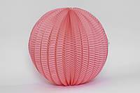 Бумажный подвесной фонарик-аккордеон, розовый (коралловый), 20 см