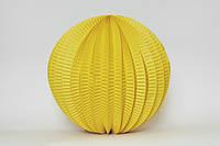Бумажный подвесной фонарик-аккордеон, желтый, 20 см