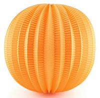 Бумажный подвесной фонарик-аккордеон, оранжевый, 20 см