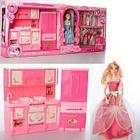 Кукла с нарядом 288-12B, 28см,шарнир, мебель-кухня, музыка, свет