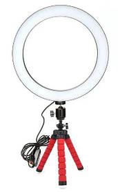Набор для блогера 2 в 1: кольцевая лампа + штатив на гибких ножках