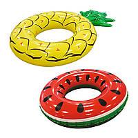 Круг надувной Bestway 3612 Летние фрукты, 116-88см, ремкоплект, 2вида, от 12лет